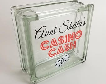 Funny Gambler Gift, Personalized Casino Savings Coin Jar, Birthday Gift for Grandmother, Gift for Gambling Friend, Casino Cash Savings Bank
