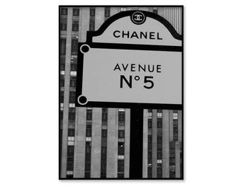Chanel print, Chanel poster, black and white, Chanel inspired, Coco Chanel, Chanel art, fashion wall art, instant download, digital download