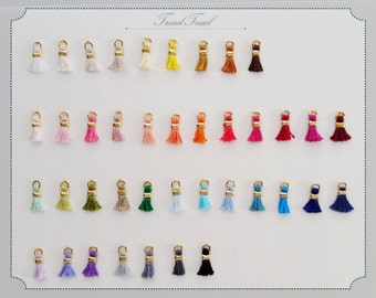 """20% Discount - 40pcs  (Gold Plating) 0.3"""" Egyptian Cotton Mini tassel Supply Whoesale"""