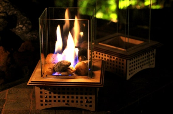 Great Tabletop Glass Fireplace This Indoor/outdoor Lantern Can Add