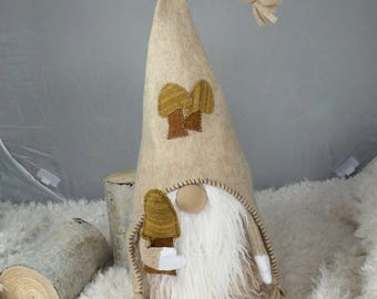 Handmade Woodland Gnome/Tomte/Nisse