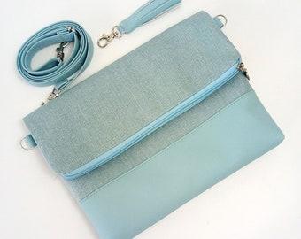 Messenger bag Woman Vegan Purse Womens Bags and purses Small messenger bag Crossbody Messenger Purse Foldover bag