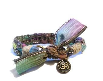 Om Bracelet, Ooak Jewelry, Boho Bracelet, Gypsy Bracelet, Original Design, Fashion Bracelet, Girlfriend Gift Idea, Namaste Jewelry, Hippie