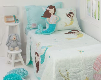 Magical Mermaids Kidsu0027 Bedding Set | Kid Room Decor| Under The Sea Ocean  Fish