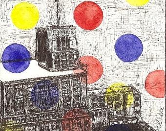 Hudsons Old Detroit (Print)