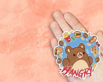 Kawaii Hangry Bear Nugget Sticker