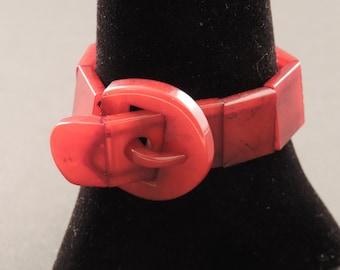 """Bakelite bracelet """"belt"""""""