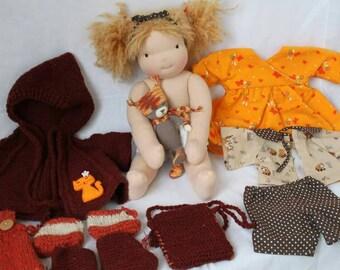 Waldorf doll, waldorf inspired doll, steiner doll, natural fiber doll, waldorf puppe, buy Waldorf doll, 15 inches doll, cloth doll, Lizzy