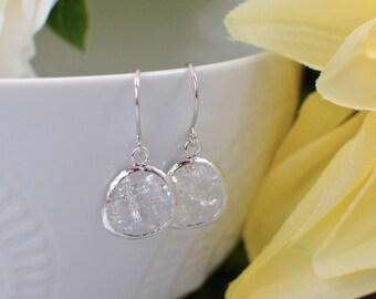The Phoenix Anne Earrings - Crystal/Silver