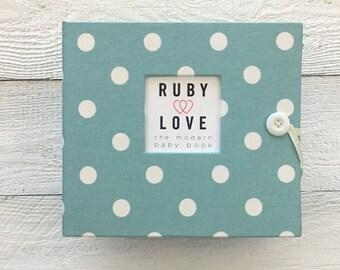 BABY BOOK | Village Blue Polka Dot Album
