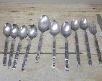 Lifetime Cutlery Stainless steel, LCU55 Pattern, large mixed lot, vintage flatware, silverware