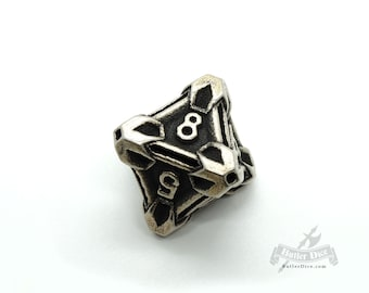 Steel D8 by Butler Dice - 8 Sided Metal