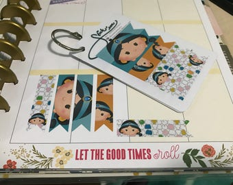 Princess Jasmine Tsum Tsum page flag stickers for Planners MAMBI
