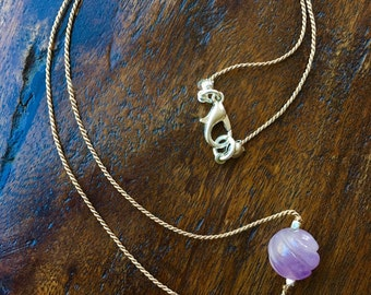 Carved Amethyst Necklace