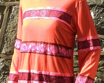 Raggedy Rose Punk Ladies T Shirt  Size S / M