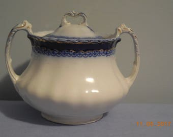 DUCHESS Flow Blue sugar bowl by Grindley