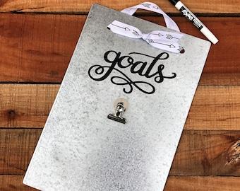 Bride Goals - Magnetic Board - Magnet Picture Frame - Dry Erase Board - Wedding Planner - Message Board - Memo Board