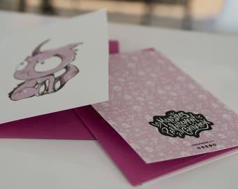 GREETING card - Monster 2