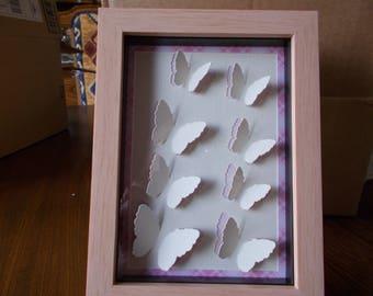 Framed butterflies,3D butterflies wall art,Framed butterfly picture