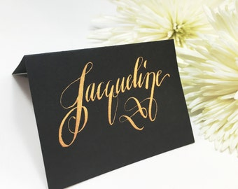 Wedding Place Cards, Place Cards, Escort Cards, Place Cards Wedding, Wedding Calligraphy, Navy Place Cards, Gold Place Cards, Calligraphy