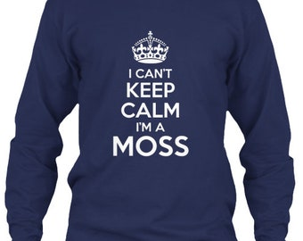 Keep Calm Moss Tee - Long Sleeve Tee - Navy