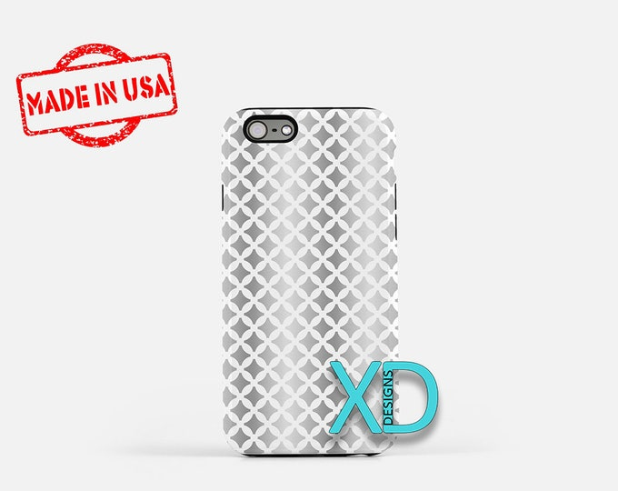 Gradient Phone Case, Gradient iPhone Case, Star iPhone 7 Case, Silver, Star iPhone 8 Case, Gradient Tough Case, Clear Case, Gray Diamond