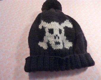 Boy pirate pattern hat, size 2 years