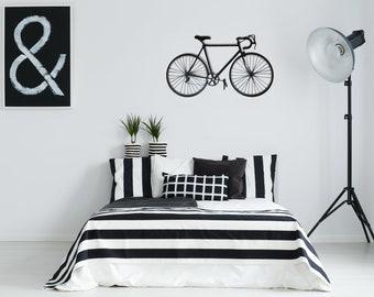 Metal Bicycle - Metal wall decore,bicycle art, Metal wall art,wall decor bedroom or living room, metal art, wall hanging,laser cut,AKA