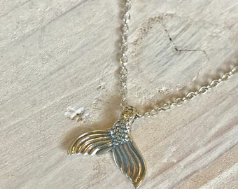 Mermaid Tail Necklace • mermaid treasure in Sterling Silver