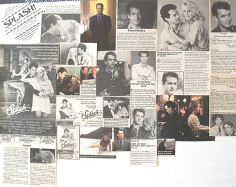 TOM HANKS ~ Bosom Buddies, Splash, Forrest Gump, Cast Away, Cloud Atlas, Captain Phillips ~ Color and B&W Clippings from 1981-1990