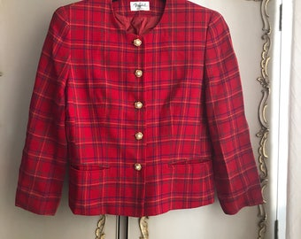 1990's red vintage couture jacket