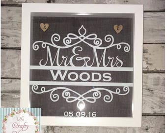 Mr & Mrs wedding day frame