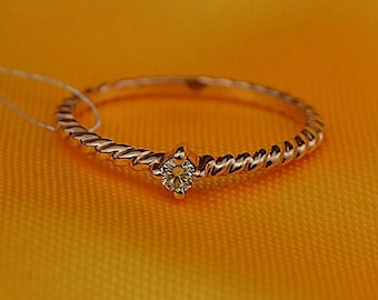 14k Rose Gold Diamond Engagement Ring Wedding Ring Birthday Anniversary Valentine's
