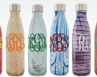 Monogrammed S'well® Bottle - Traditional Design