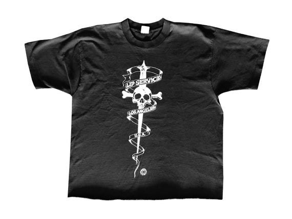Lip Service Sword & Skull Cropped T-Shirt