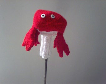 Knit Golf Club Cover, Crab Golf Cover, Gift for Her, Gift for Him