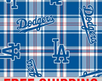 """Fleece Fabric Los Angeles Dodgers MLB 60"""" Wide Style# MLB LOS-6618. Free Shipping"""