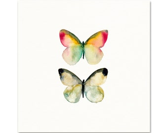 Watercolor Butterfly Art. Watercolor Butterfly Poster. Unique Nature Art. Modern Nature Decor. Colorful Insect Art. Garden Gallery Wall Art.