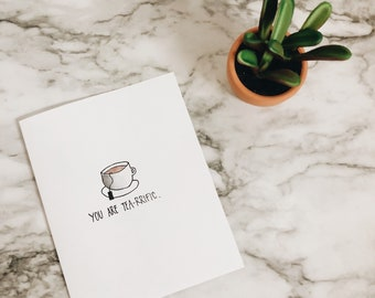 Cute Tea Greeting Card