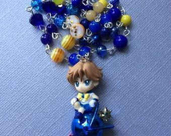 Sailor Uranus // Transformation Pen //Twinkle Dolly Figurine // Beaded Necklace