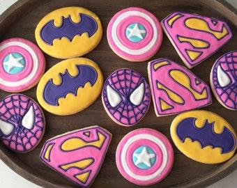 Girl Superhero Cookies (1 dozen)