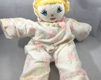 Vintage Homemade Weird and Slightly Creepy Sock Doll