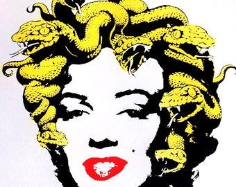 Marilyn Medusa Monroe Silk Screen Print
