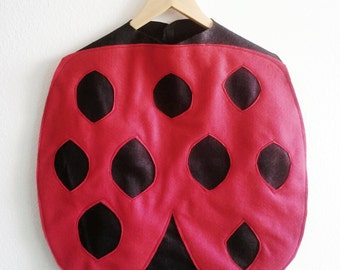 Ladybug Cape, Halloween Costume or Dress Up Cape for all ages