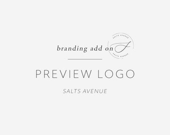 Preview a Premade Design, Logo Preview Add On, Made to Order