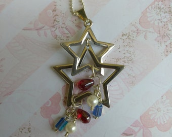 Star Dangle Banner Necklace