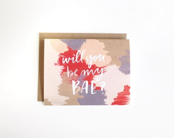 Will You Be My Bae? Card