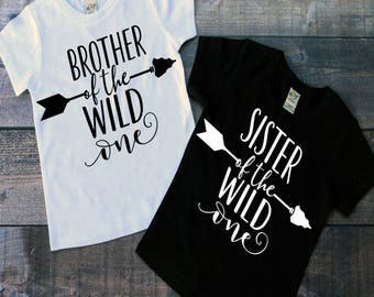 Brother and Sister of the Wild One T-Shirts, Wild One Birthday, Brother Of the Wild One, Sister of the Wild One