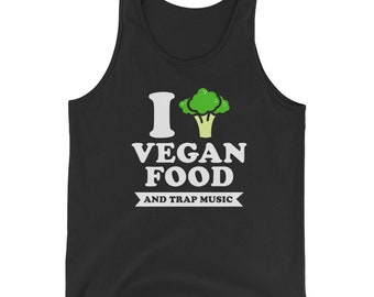 Vegan Food With Tree Sign Bella And Canvas Men's Tank Top