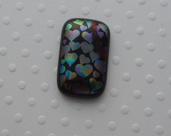 Dichroic Fused Glass Cabochon - Gem Stone - Cabochon Cab - Bead Supply- Glass Bead - Wire  - Jewelry Making - Stained Glass 5248